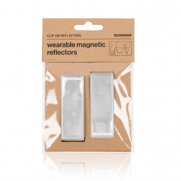 Bookman - White - Clip on Reflectors