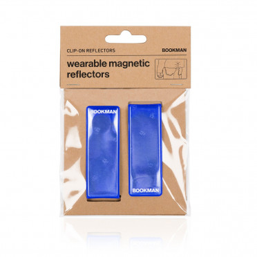 Bookman - Blue - Clip on Reflectors