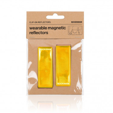 Bookman - Yellow - Clip on Reflectors