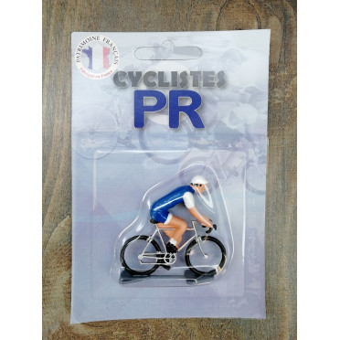 Roger Cyclist figurines - Blue/White vintage jersey