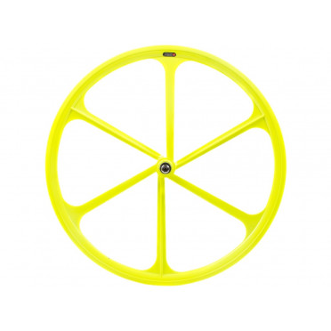 6 Spoke Wheel Neon Yellow