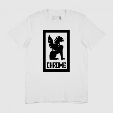 Chrome - Large Lock Up T-Shirt - White