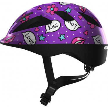 ABUS - Smooty 2.0 Purple Kisses - Kids Bike Helmet