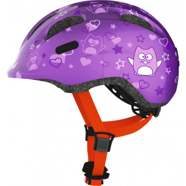 ABUS - Smiley 2.0 Purple Star - Kids Bike Helmet