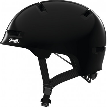 ABUS - Scraper 3.0 Shiny Black - Kids Bike Helmet