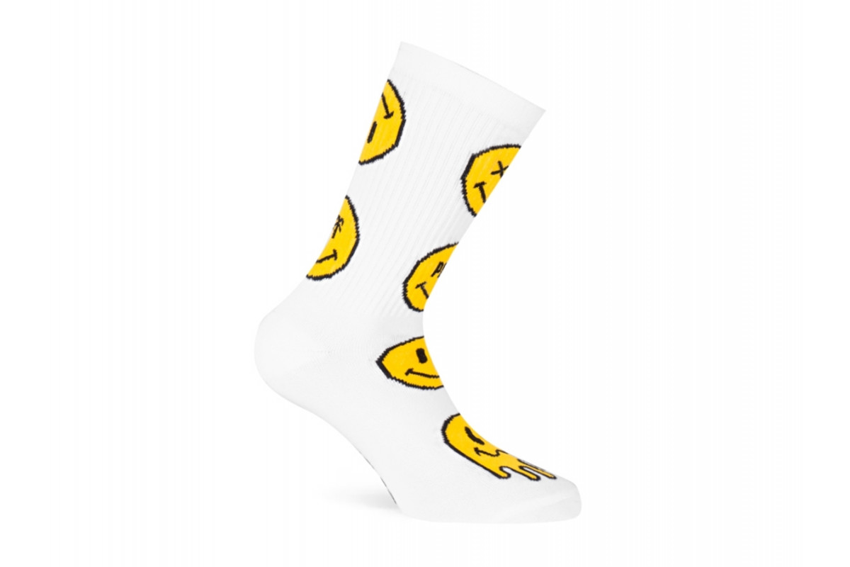PACIFIC & CO - Smiley (White) - Cycling Socks