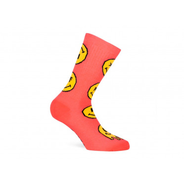 PACIFIC & CO - Smiley (Corail) - Cycling Socks