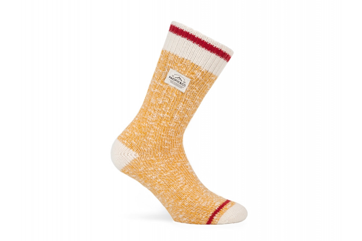 PACIFIC & CO - Montblanc (Yellow) - Cycling Socks