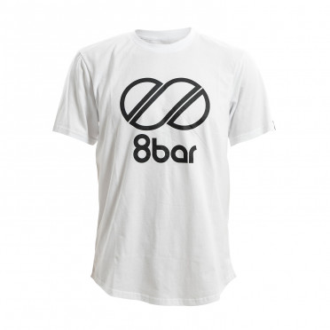 8BAR Logo - T-Shirt - White