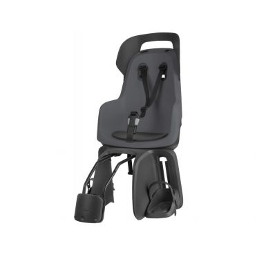 Bobike - Rear Rack Mounted Dark Grey Go Baby Carrier