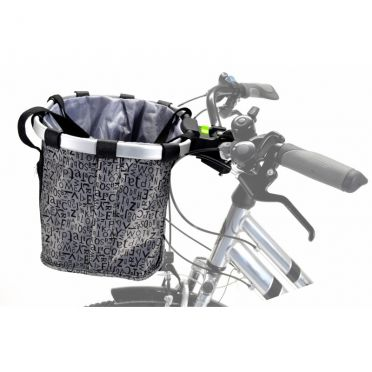 P&A - Removable Textile Front Basket Grey / Black