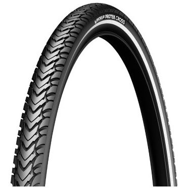Michelin - 700 x 40C - Protek Cross Reinforced Hi Viz Stripe Bike Tire