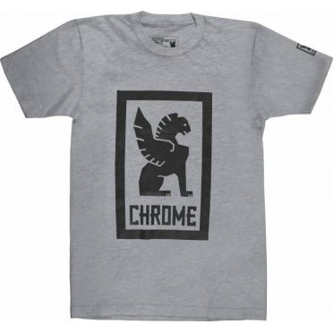 Chrome - Large Lock Up T-Shirt - Grey