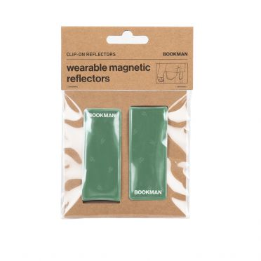 Bookman - Green - Clip on Reflectors