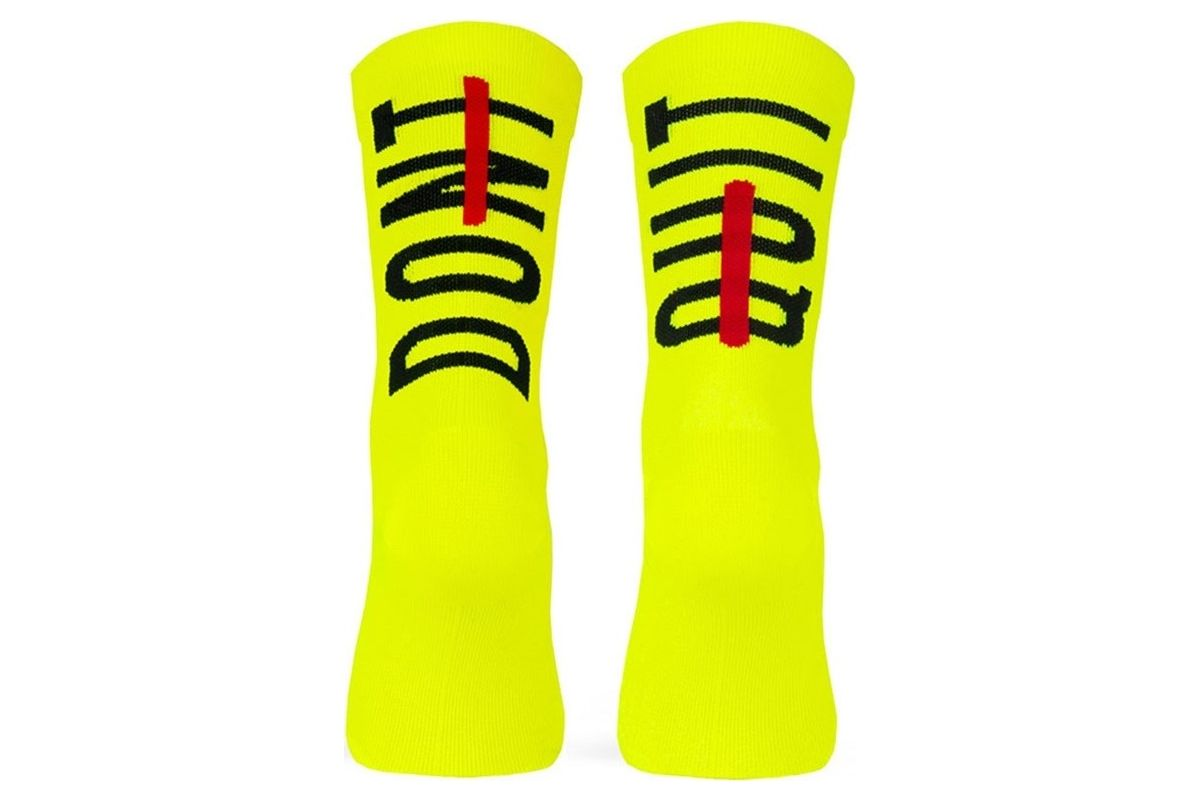 Pacific & Co - Don't quit - Yellow - Cycling Socks