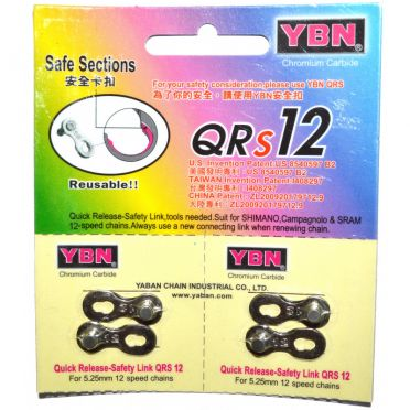 YBN - Pair of quick link for 12 speed bike chain