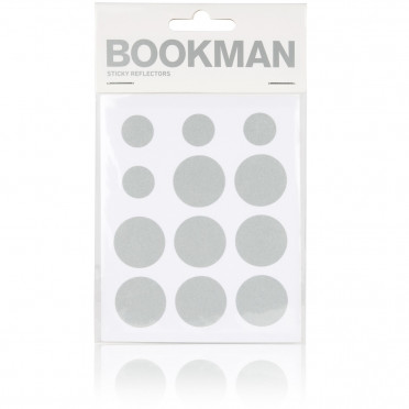 Bookman - White - Reflective Stickers