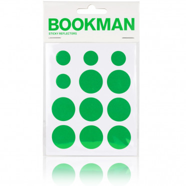 Bookman - Green - Reflective Stickers