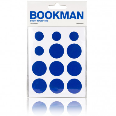 Bookman - Blue - Reflective Stickers