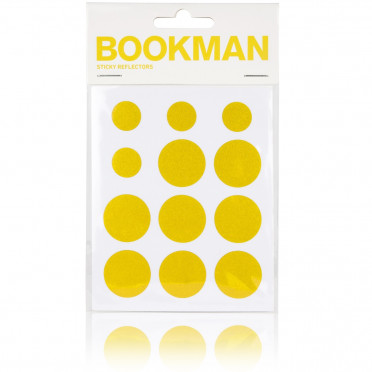 Bookman - Yellow - Reflective Stickers