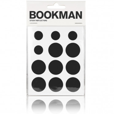 Bookman - Black - Reflective Stickers